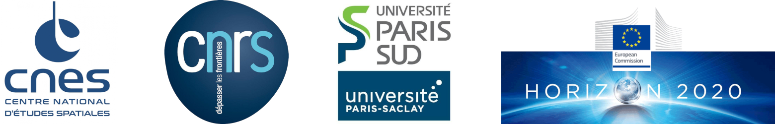 Logos CNES-CNRS-Université-Paris-Saclay-Horizon2020-European-Commission